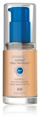 COVERGIRL Outlast Stay Fabulous 3-in-1 All Day Foundation Warm Beige, 1 fl oz (30 ml) $9.35 thestylecure.com