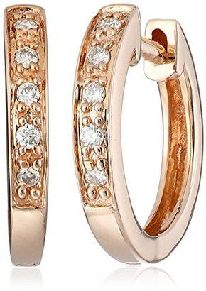 "KC Designs Charmed Life"" 14k Rose Gold and Diamond Mini Hoop Earrings"
