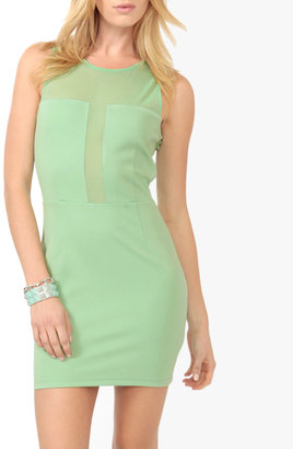 Forever 21 Mesh Panel Sheath Dress
