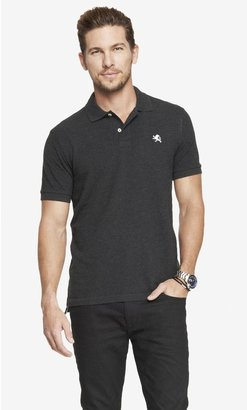 Express Modern Fit Heathered Small Lion Pique Polo