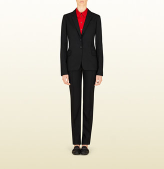 Gucci Black Wrinkle Free Wool Suit From Viaggio Collection