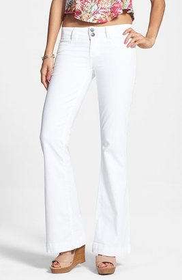 SP BLACK Low Rise Flared Jeans (White) (Juniors)