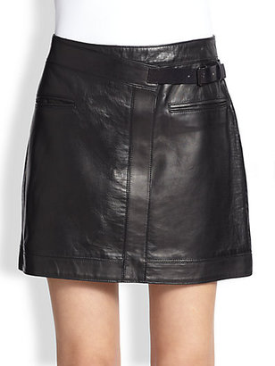 Helmut Lang Ink Leather Mini Skirt