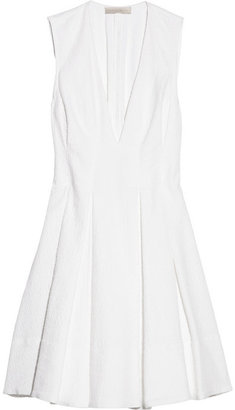 Vanessa Bruno Pleated cotton-jacquard dress