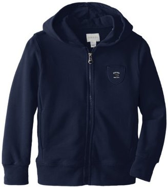Diesel Big Boys' Subby Zip Hoodie with Small Pocket and Tonal Mohawk On Back