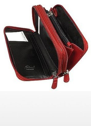Fontanelli Calf Leather Wallet with double zip