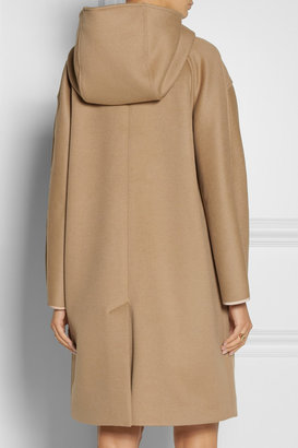 Derek Lam Hooded wool and angora-blend duffle coat