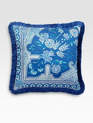 Etro Bursa-Print Satin Accent Pillow
