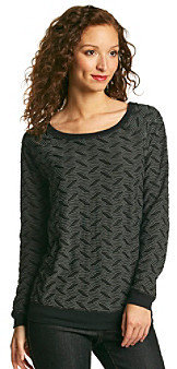 NY Collection Abstract Print Knit Top