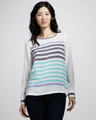 Equipment Modern Art Striped Top