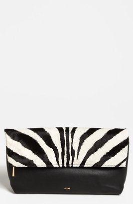 Emilio Pucci Zebra Print Calf Hair & Leather Clutch