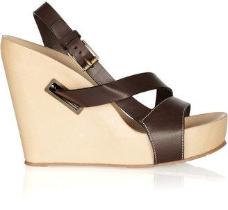 Jil Sander Leather wedge sandals