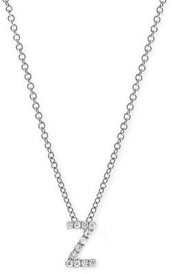 Nordstrom Women's Bony Levy Pave Diamond Initial Pendant Necklace Exclusive)