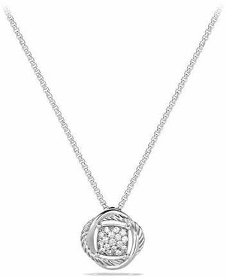 David Yurman Infinity Pendant with Diamonds on Chain $595 thestylecure.com