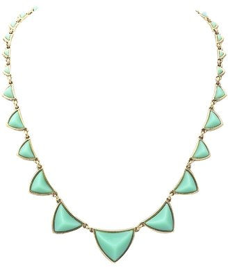House Of Harlow Pyramid Station Necklace in Mint Green