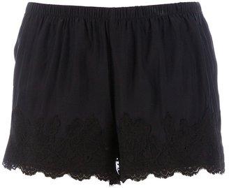 Gold Hawk lace shorts