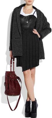 Rag and Bone Rag & bone Francis leather and linen-blend dress