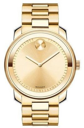 Movado Bold 42.5mm Gold IP Stainless Steel Watch $795 thestylecure.com
