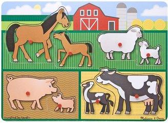 Melissa & Doug Farm Peg Puzzle (8 pc)
