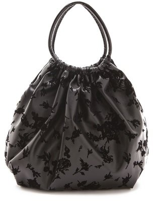 RED Valentino Floral Flocked Balloon Bag