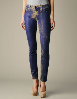 True Religion Womens Halle Vintage Leather Jean - (Rustic Trail Midnight)
