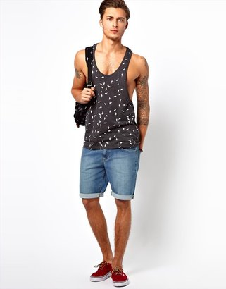ASOS Tank With All Over Lightning Bolt Print