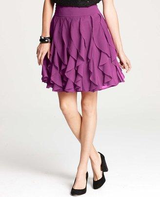Ann Taylor Ruffle Tiered Skirt