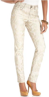 DKNY Jeans, Skinny Metallic Printed