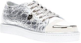 Gianmarco Lorenzi Collector metallic cap sneaker