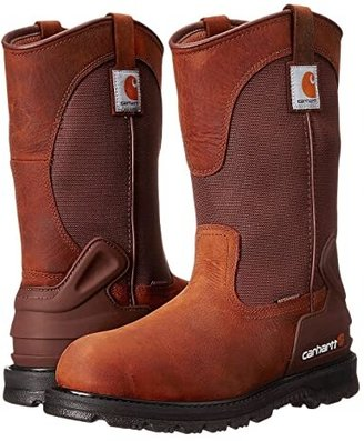 Carhartt 11 Waterproof Non-Safety Toe Wellington Boot (Bison Brown) Men's Work Pull-on Boots