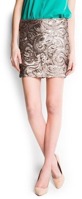 MANGO Sequined Miniskirt