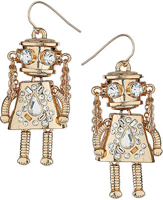 Topshop Female Robot Drop Earrings