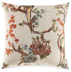 Bed Bath & Beyond Plumage Multi-Colored Rust Toss Pillow
