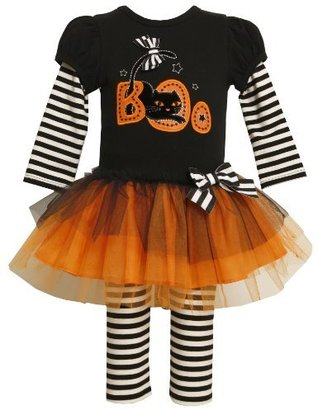 Bonnie Baby girls Newborn 2-Fer Look Knit Top To Tulle Skirt with Legging