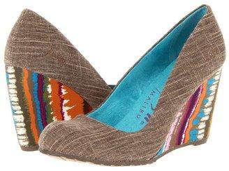 Blowfish Illi (Black Fawn/Brown Zoo Print) - Footwear