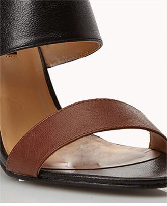Forever 21 Colorblocked Open-Toe Sandals