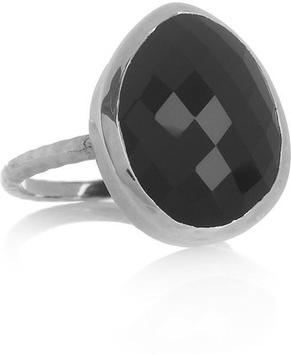 Monica Vinader Nugget sterling silver onyx ring