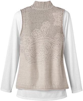 Coldwater Creek Paisley sweater vest
