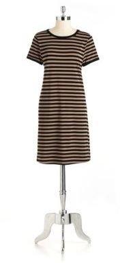 Chelsea & Theodore Striped Shift Dress