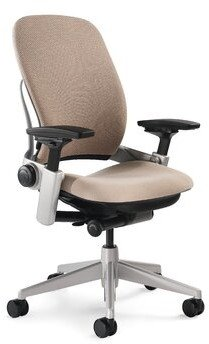 "Steelcase Leap Mesh Task Chair Upholstery: Buzz2 - Black, Arms: Fully Adjustable, Casters: Hard Floor Casters, Headrest: Included, Seat Height: 5"" Se"
