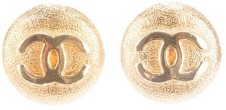 Chanel clip on logo earrings