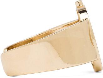 Maison Martin Margiela Brass Cuff with Medallion in Gold