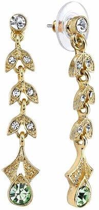 Downton Abbey Vine Linear Drop Earrings