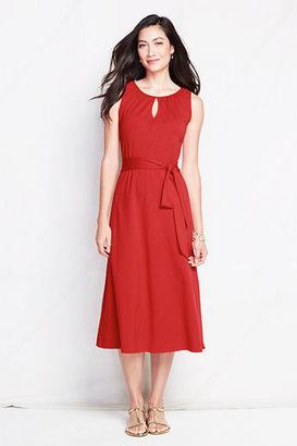 Lands' End Women's Cotton Modal Keyhole Dress