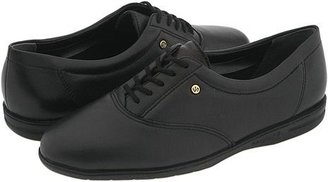 Easy Spirit Motion (Black Leather) Women's Lace up casual Shoes