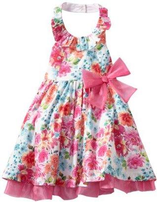 Bonnie Jean Girls 2-6X Glitter Poplin Halter Dress
