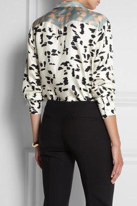 Chloé Printed silk-twill shirt