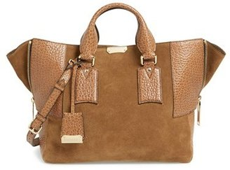 Burberry 'Medium Callaghan' Suede & Leather Tote