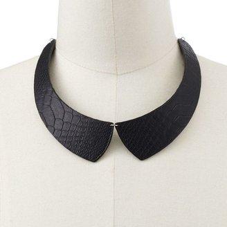 Apt. 9 silver tone snakeskin collar necklace