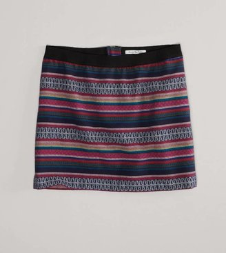 American Eagle AE Embroidered Miniskirt